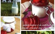 yaourt maison à la confiture de fraises et poivre long